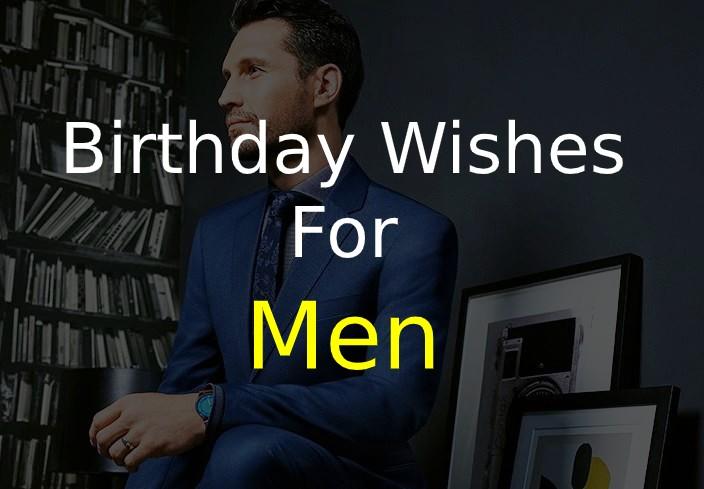 Birthday Wishes for Men